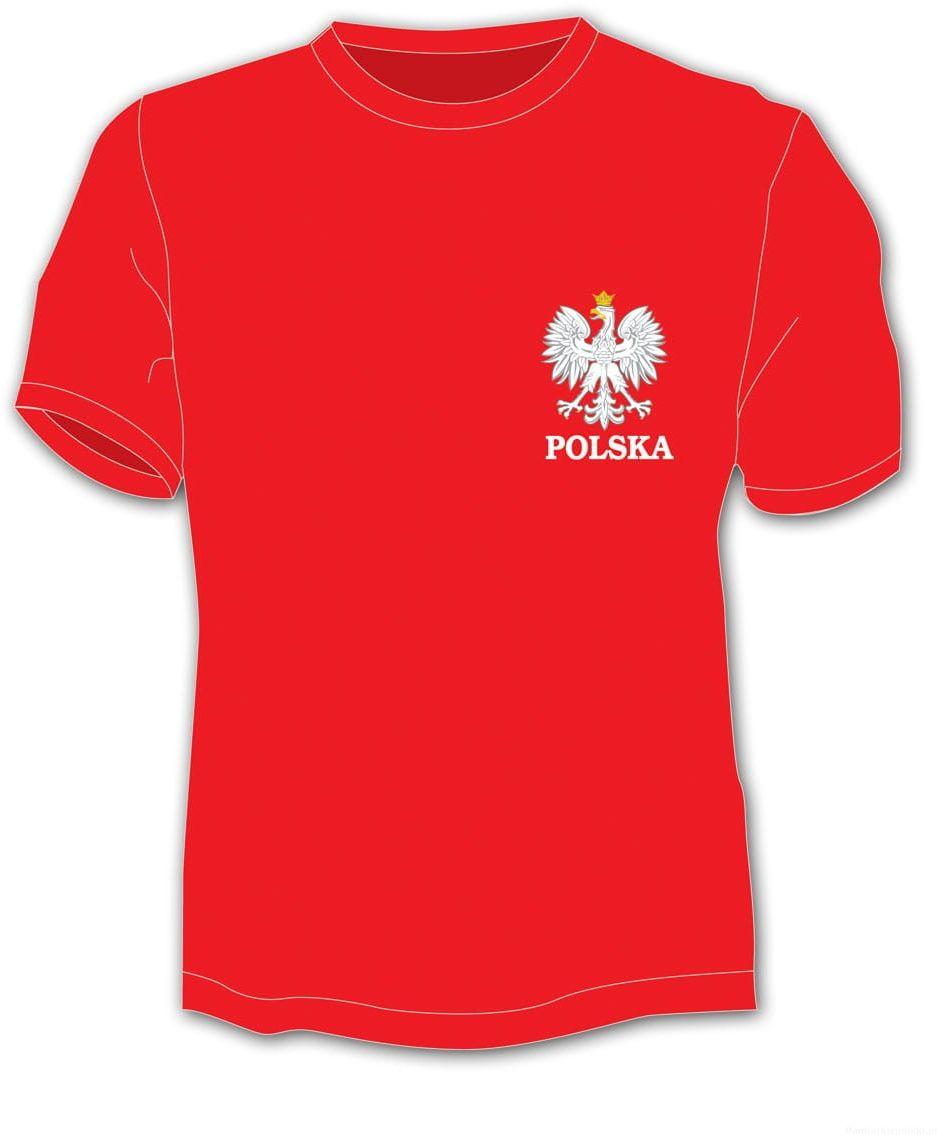 Koszulka Polska napis mały orzeł