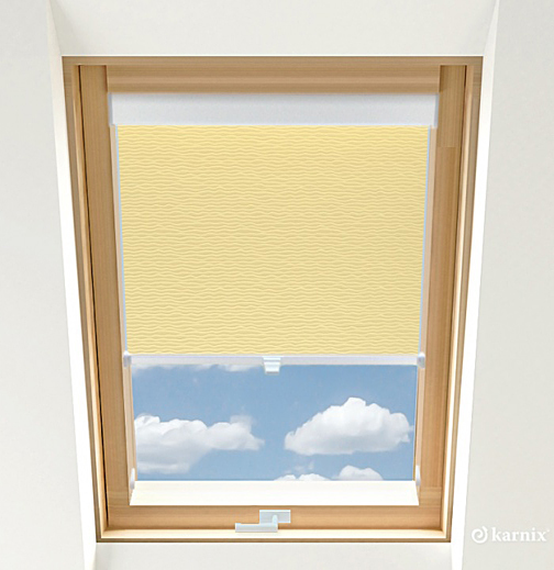 Rolety do okien dachowych BASIC BASMATI - Wanilia / Biały