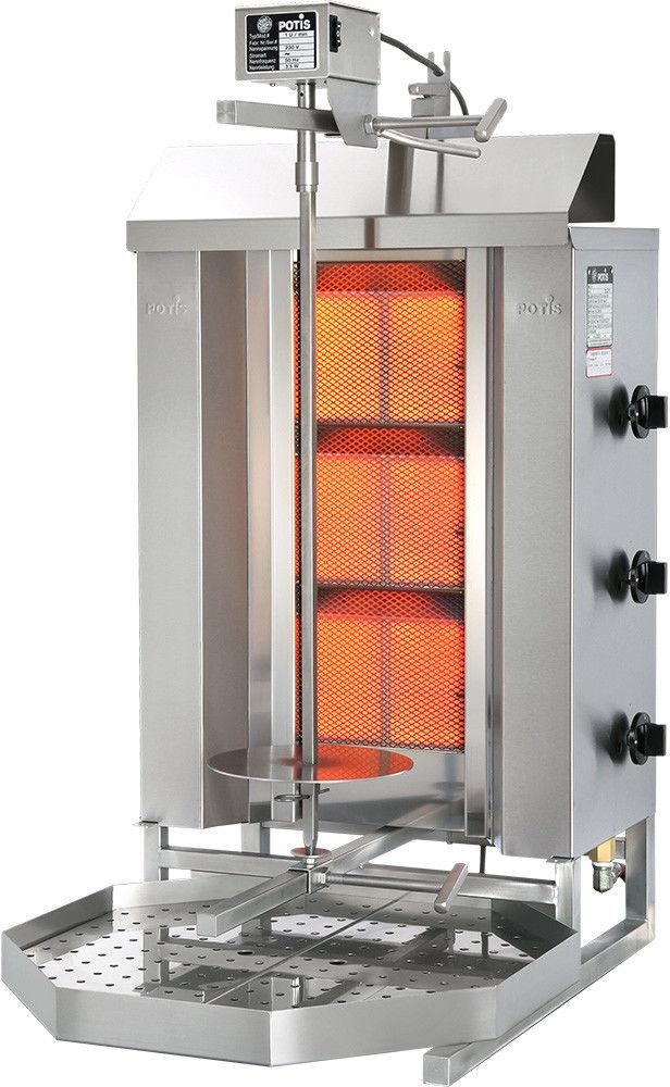 Gyros (kebab) gazowy - do 40 kg POTIS GD-3