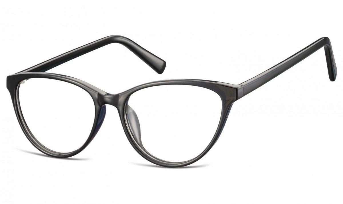 Oprawki korekcyjne okulary Kocie Oczy zerówki Sunoptic CP127E czarne