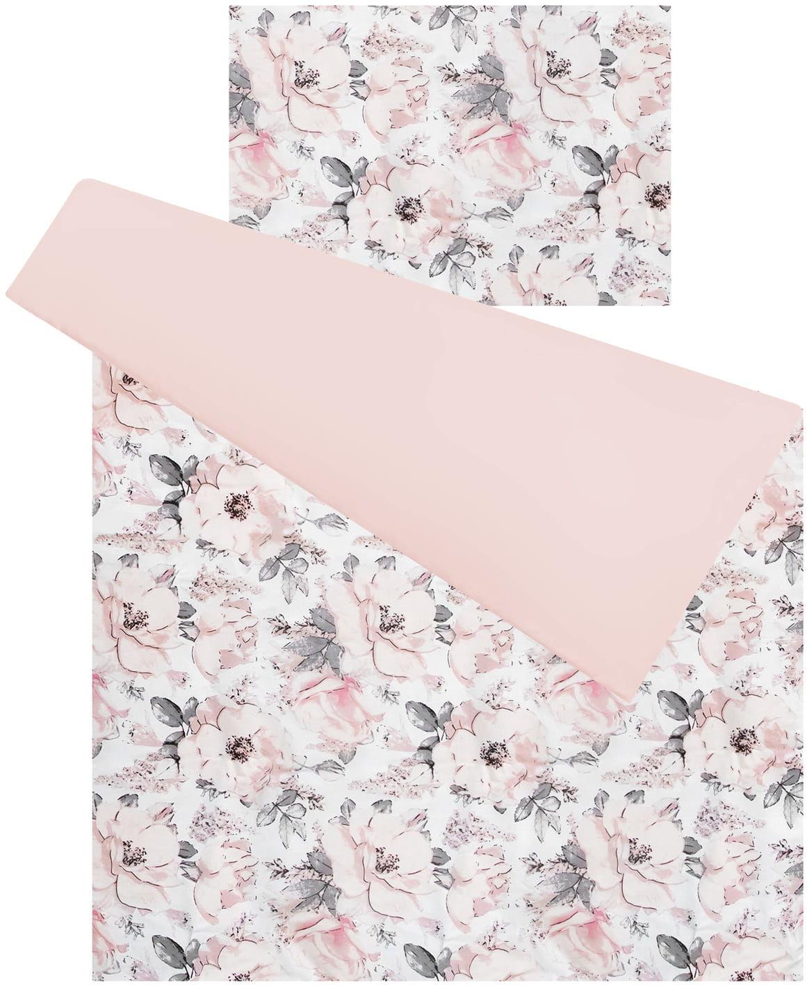 Pościel do łóżeczka 100% bawełna 2 el. flowers pink