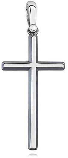 Krzyżyk srebrny, pr.925. - oksydowany