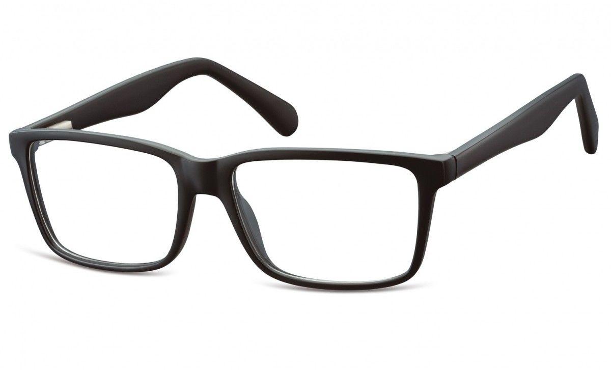 Okulary oprawki korekcyjne Nerdy zerówki Flex Sunoptic CP162 czarne
