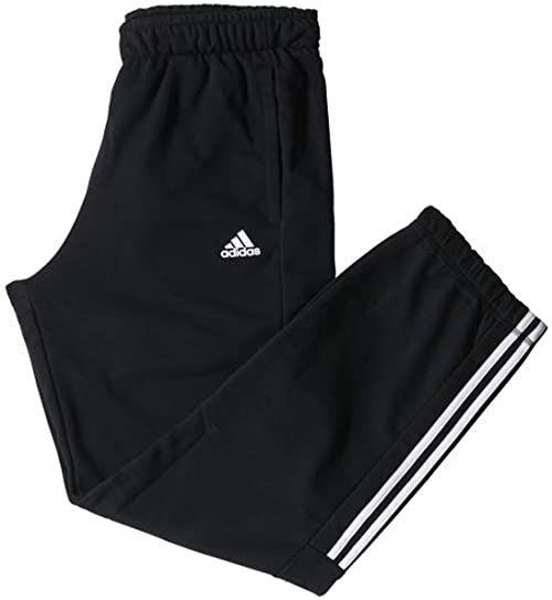 adidas Odzież wierzchnia Essentials 3 Stripes Mid Light Sweat Pants Men spodnie sportowe, czarne/białe, S