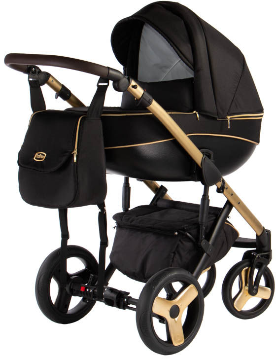 Avero - kol. AV-02 Gold 3w1 - Wózek dziecięcy - Kajtex