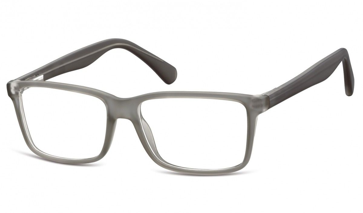 Okulary oprawki korekcyjne Nerdy zerówki Flex Sunoptic CP162A szare