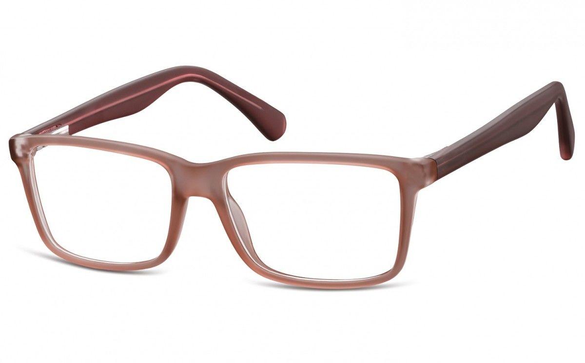Okulary oprawki korekcyjne Nerdy zerówki Flex Sunoptic CP162B brązowe