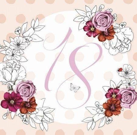 Karnet Swarovski kwadrat CL1418_PO Urodziny 18