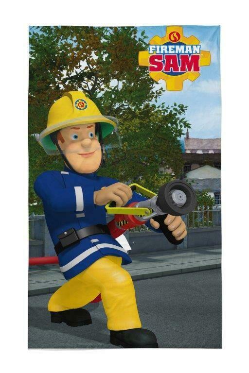 Ręczniczek do przedszkola 30x50 Strażak Sam w akcji Straż Pożarna Fireman gaśnica dziecięcy bawełniany 0717