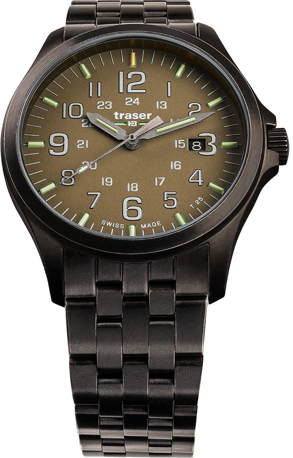 Zegarek Traser TS-108738 P67 OfficerGun Khaki - CENA DO NEGOCJACJI - DOSTAWA DHL GRATIS, KUPUJ BEZ RYZYKA - 100 dni na zwrot, możliwość wygrawerowania dowolnego tekstu.