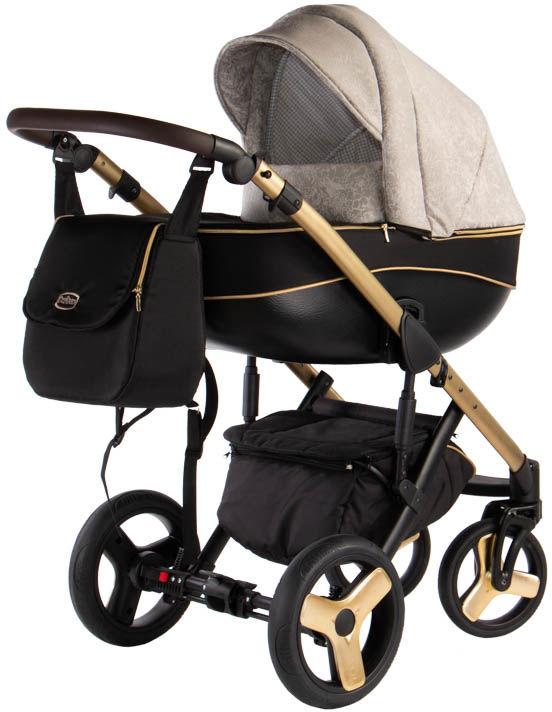 Avero - kol. AV-04 Gold 3w1 - Wózek dziecięcy - Kajtex