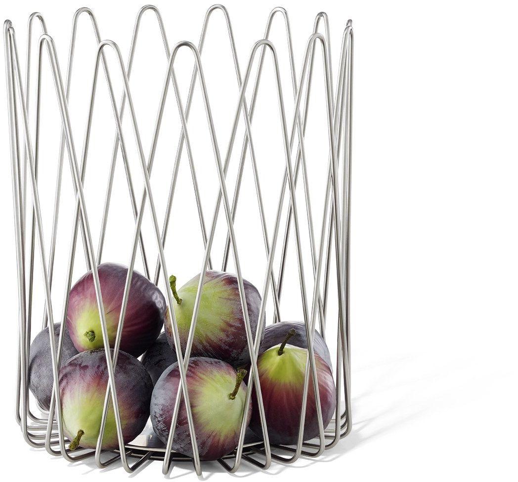ZACK BIVIO kosz na owoce, 20 x 25,5 cm, srebrny