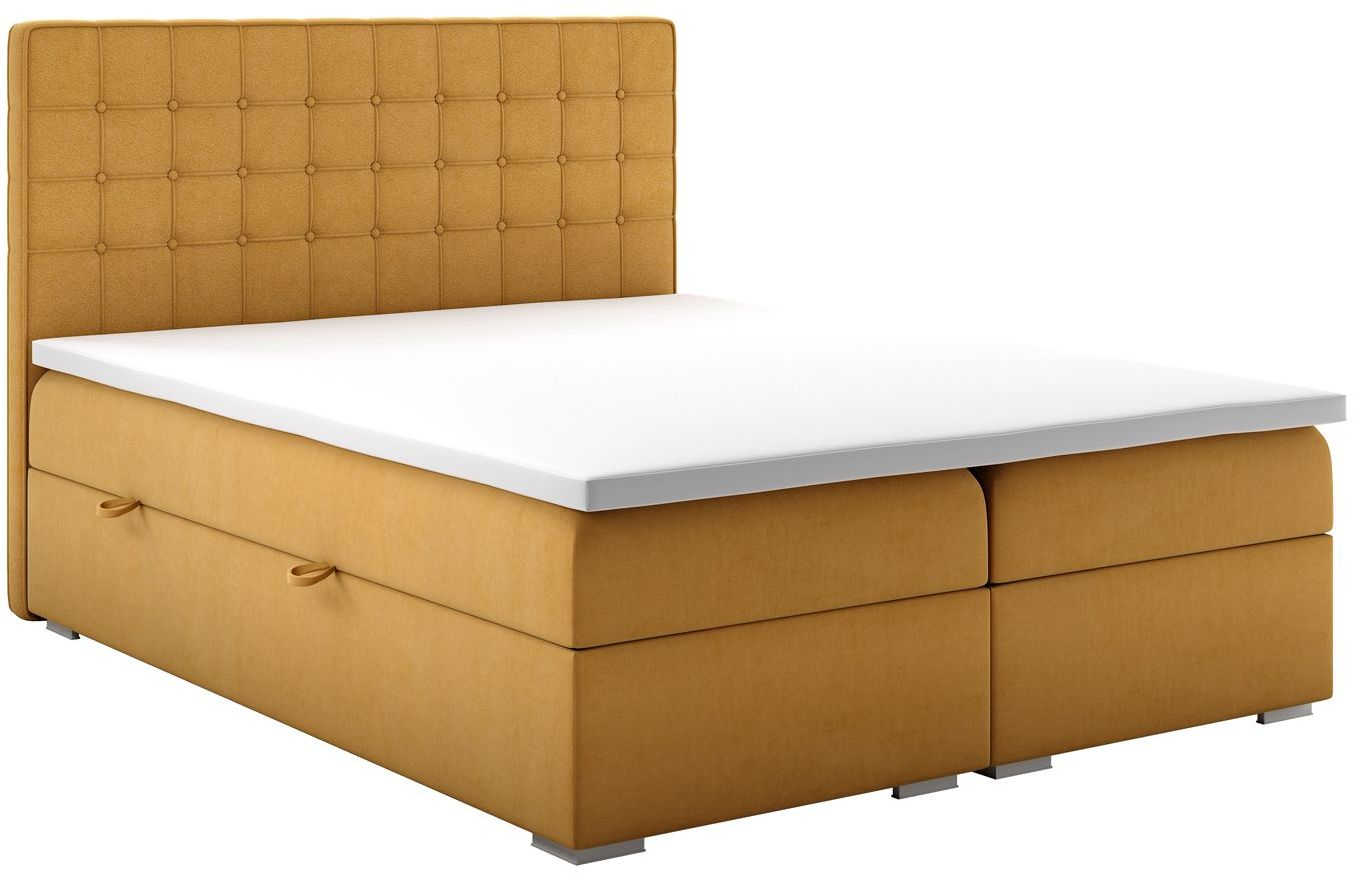 Małżeńskie łóżko boxspring Rimini 160x200 - 58 kolorów
