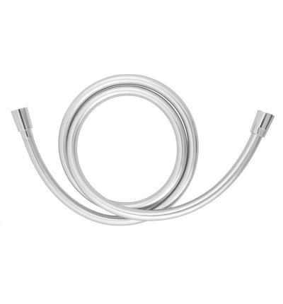Omnires Silver wąż prysznicowy bezskrętny 125cm srebrny SILVERX125