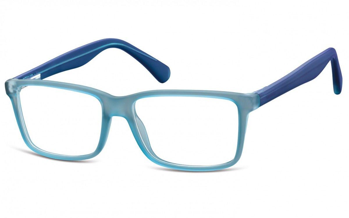 Okulary oprawki korekcyjne Nerdy zerówki Flex Sunoptic CP162D niebieskie