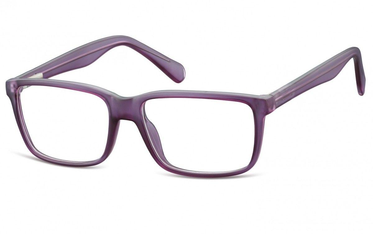Okulary oprawki korekcyjne Nerdy zerówki Flex Sunoptic CP162E fioletowe
