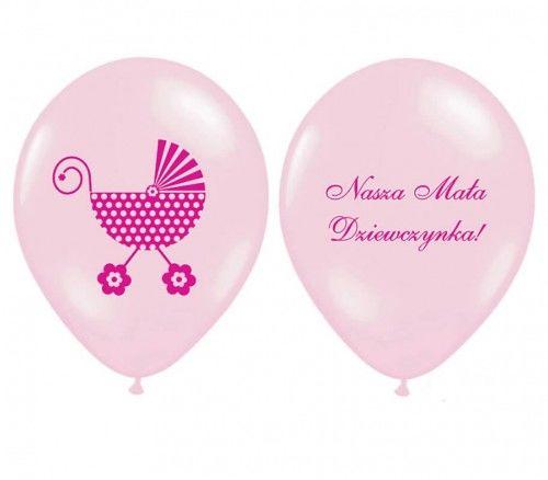 Balony Nasza Mała Dziewczynka, 6 szt.