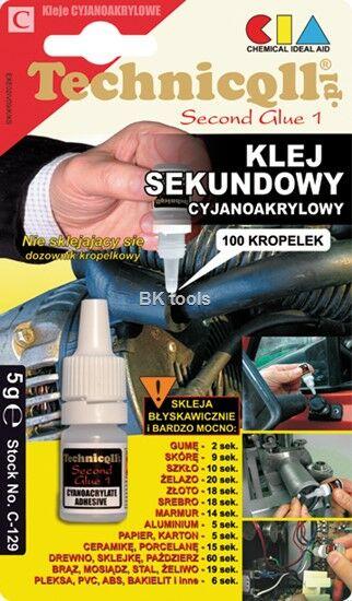 TECHNICQLL KLEJ SEKUNDOWY 5g C-129