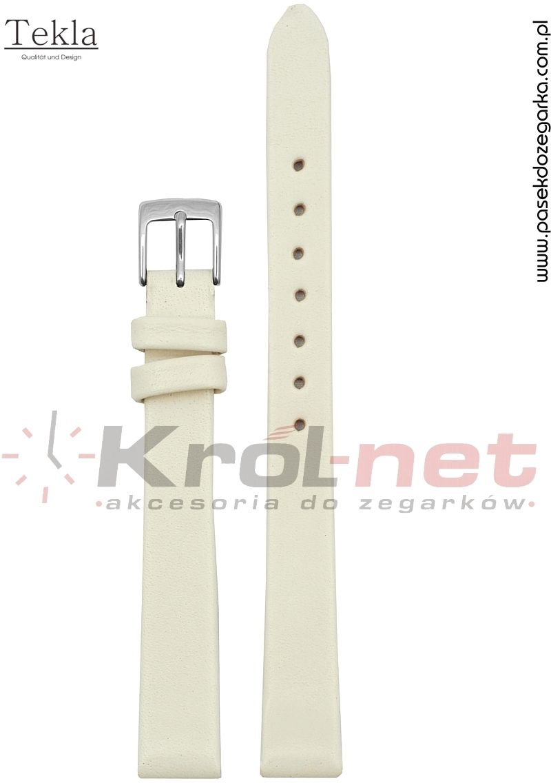 Pasek TK118KRE/8 - kremowy, gładki