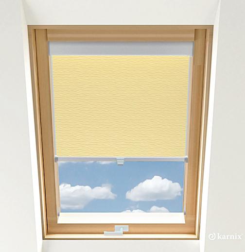 Rolety do okien dachowych - BASMATI - Wanilia / Srebrny