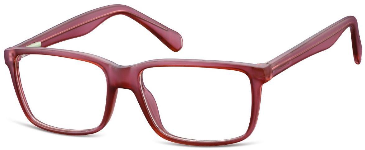 Okulary oprawki korekcyjne Nerdy zerówki Flex Sunoptic CP162F burgund