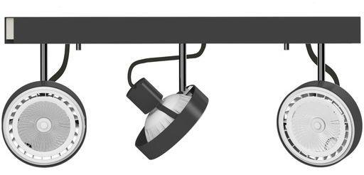 Plafon Cross 9596 Nowodvorski Lighting potrójna ruchoma oprawa w kolorze grafitowym