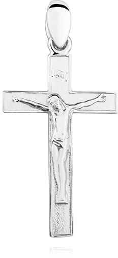 Elegancki krzyżyk srebrny z Chrystusem, pr.925.