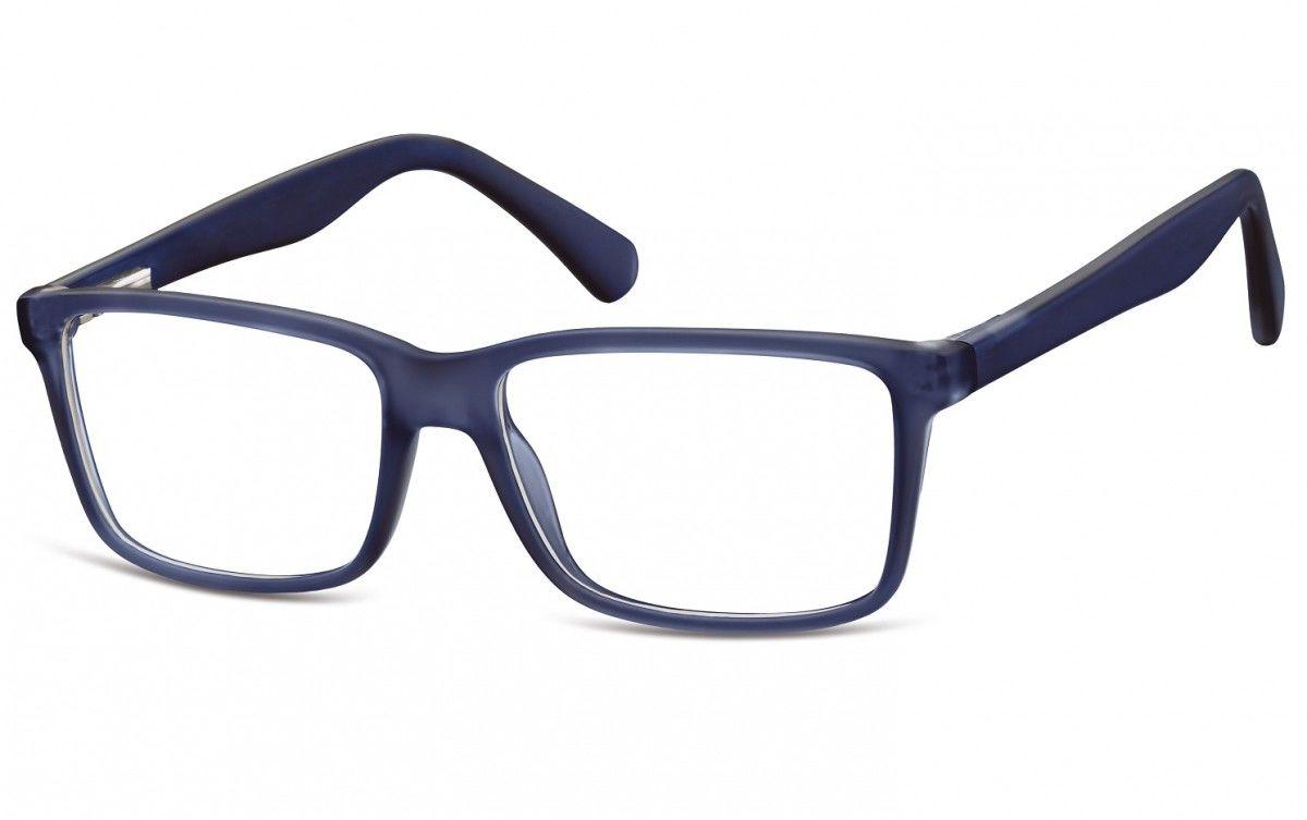 Okulary oprawki korekcyjne Nerdy zerówki Flex Sunoptic CP162G granatowe