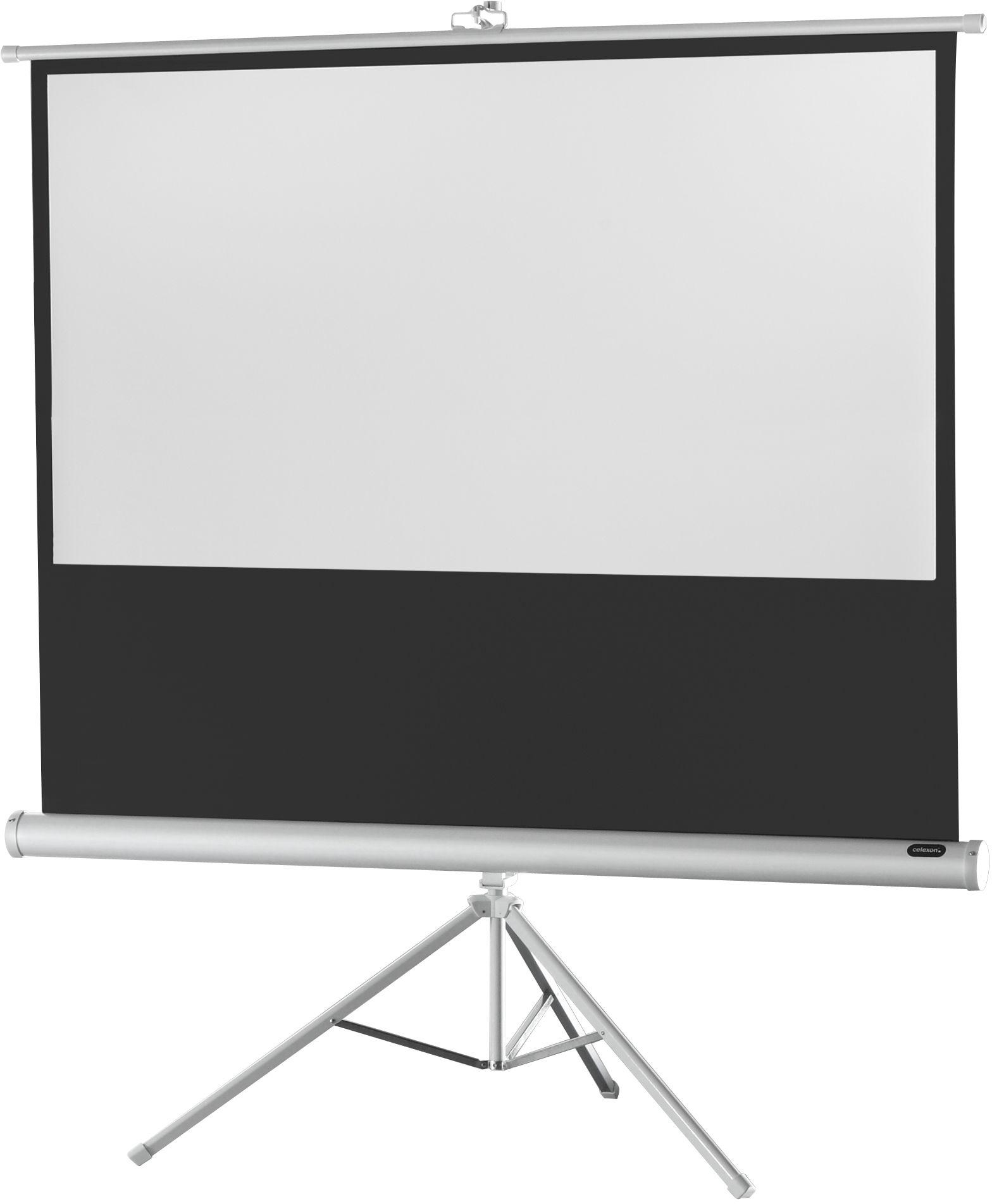 celexon Economy 244 x 138 cm ekran projekcyjny na trójnogu - Biala edycja