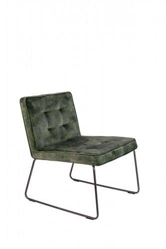 Fotel Clark szaro-zielony