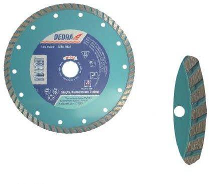 Tarcza diamentowa turbo do cięcia betonu, kamienia, twardej ceramiki 125/22,2mm DEDRA H1101