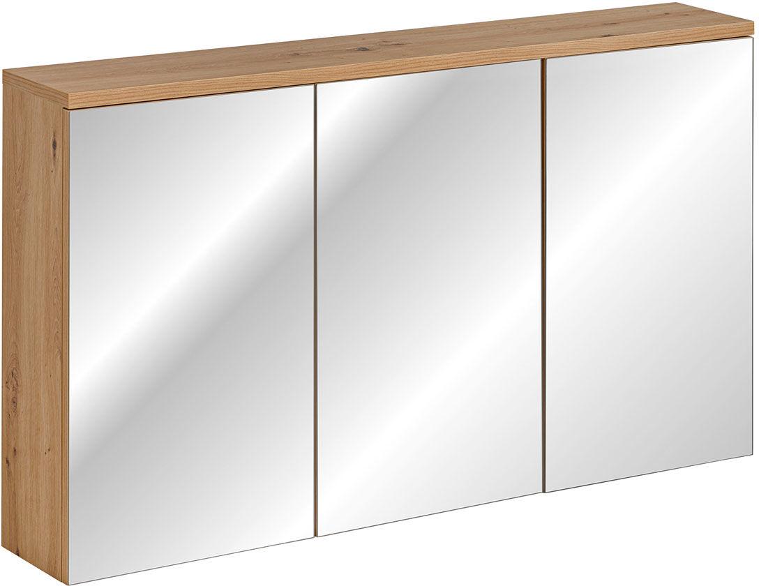 Nowoczesna wisząca szafka łazienkowa z lustrem - Belissa 6X 120 cm