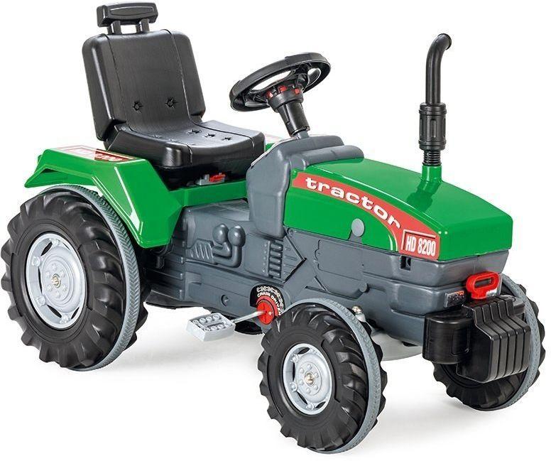 WOOPIE Ogromny Zielony Traktor Na Pedały z Klaksonem Ciągnik