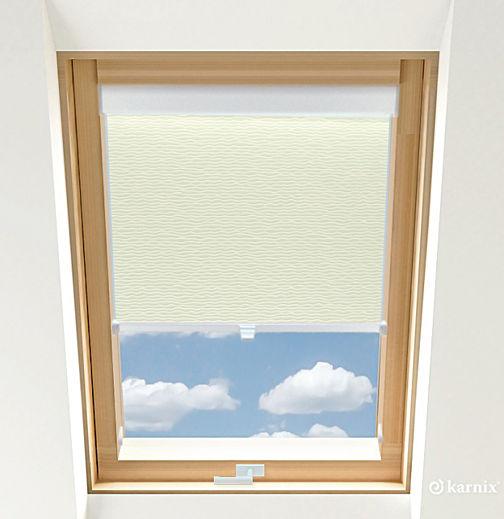 Rolety do okien dachowych BASIC BASMATI - Krem / Biały