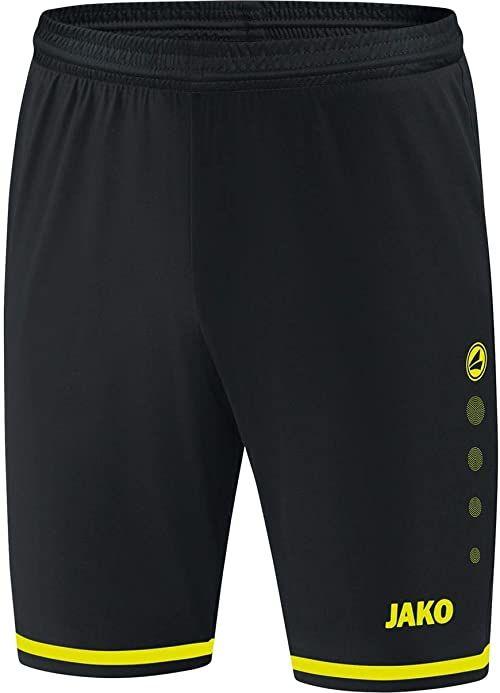 JAKO Striker 2.0 męskie spodnie sportowe czarny czarny/żółty neonowy S