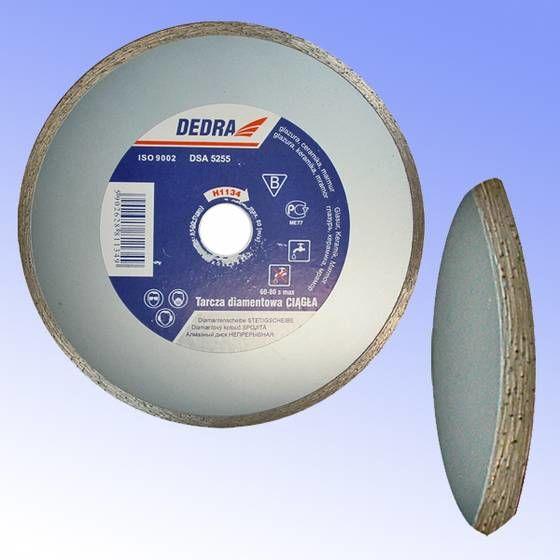 Tarcza diamentowa ciągła do cięcia glazury, ceramiki, marmuru 230/22,2mm DEDRA H1135