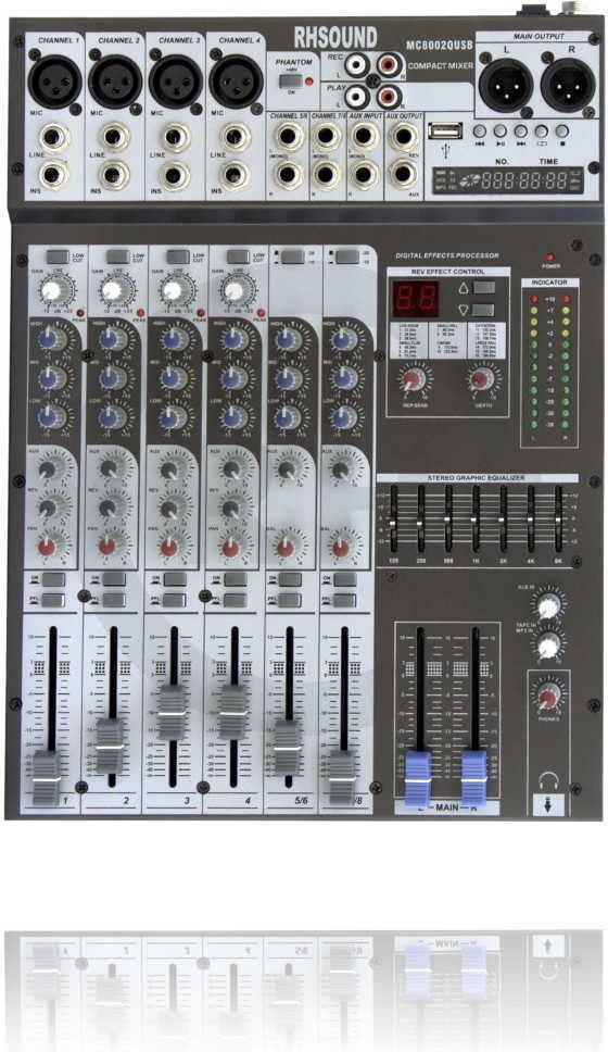MC-8002QUSB Mikser audio