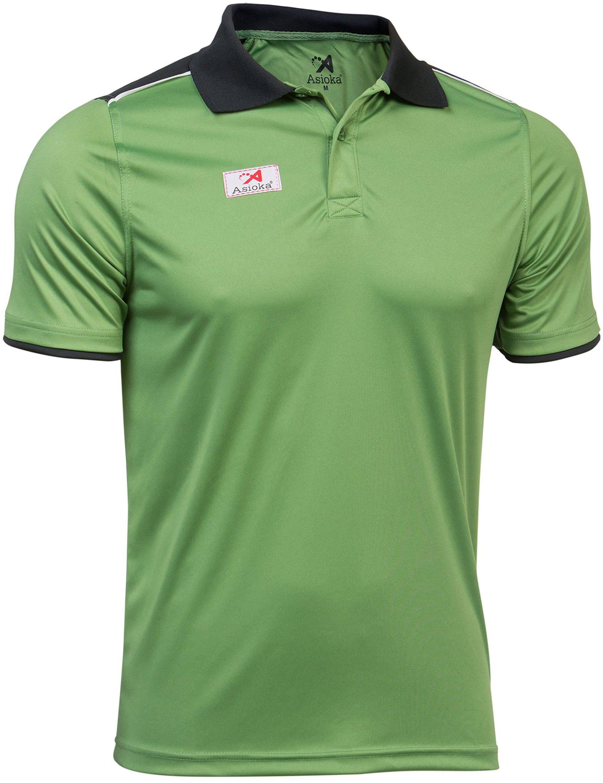 Asioka - 108/17 Techniczna koszulka polo z krótkimi rękawami, unisex, dla dorosłych, XL zielona