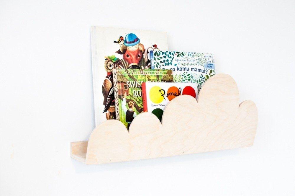 Półka chmurka - drewniana naturalna
