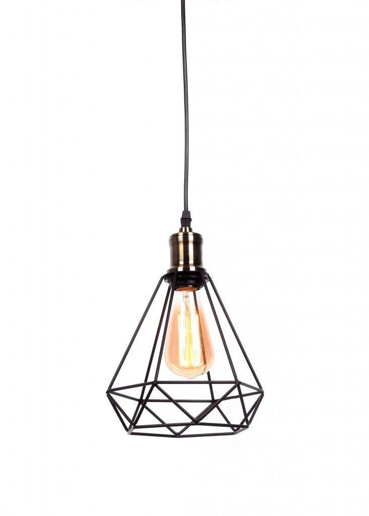 Cobi lampa wisząca 1-punktowa czarna LDP 11609 (BK)