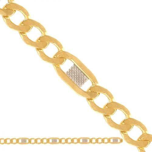 Złoty łańcuszek Dmuchany Figaro Ld038