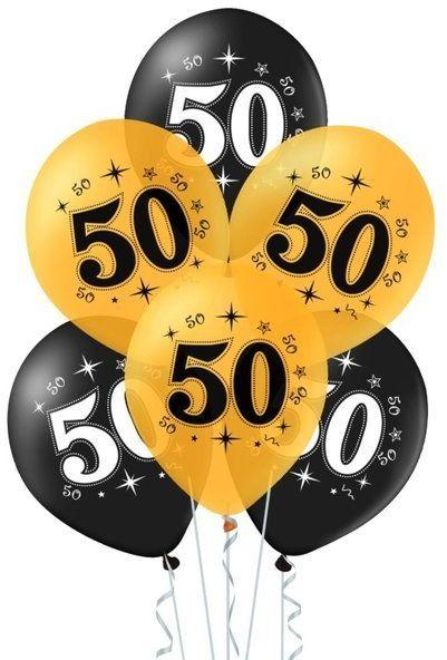 Balony na 50 urodziny 10 sztuk 400618