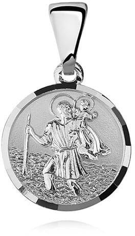 Srebrny medalik Święty Krzysztof