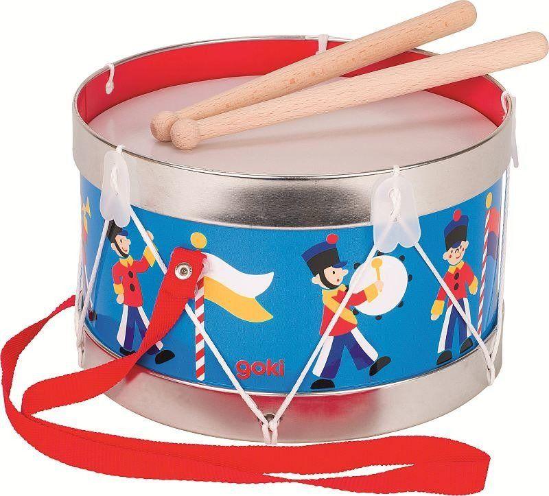 Metalowy bębenek dla dzieci Gwardia 61895-Goki, zabawki muzyczne