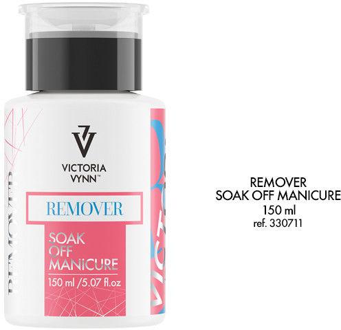 REMOVER Soak Off Manicure - do usuwania lakieru hybrydowego oraz do zmiękczania akrylu i akrylo-żelu 150 ml