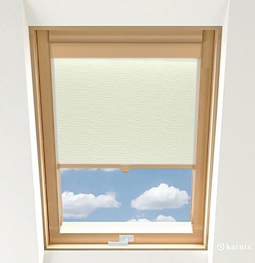 Rolety do okien dachowych - BASMATI - Krem / Sosna