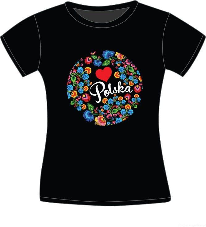 Koszulka Polska Folklor koło - damska