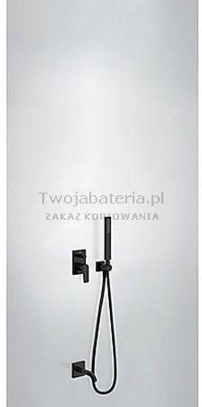 Project Tres zestaw prysznicowy z baterią podtynkową czarny mat - 211.180.03.NM