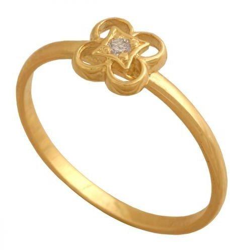 Złoty pierścionek młodzieżowy Pn449