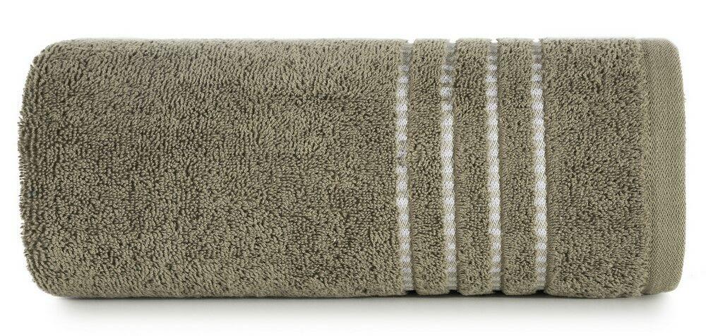 Ręcznik 50x90 Fiore brązowy jasny 500g/m2 Eurofirany
